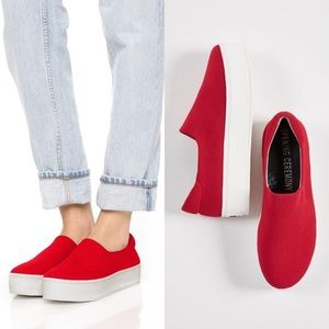 Opening Ceremony Cici Platform sneaker slip on red